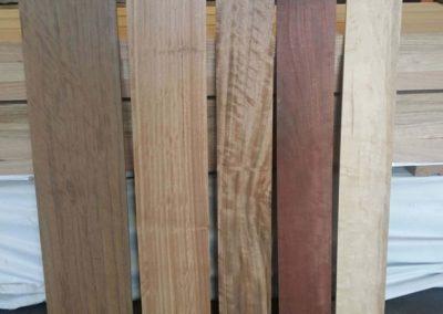 Black Walnut, Blackbutt, Tasmanian Blackwood, Jarrah and Heart Stain Rock Maple